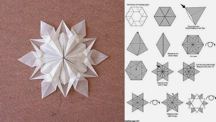 Estrella de belen en papel origami o - Origami de una estrella ...