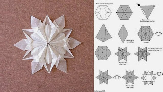 Estrella de Belen en Papel, Origami o Papiroflexia