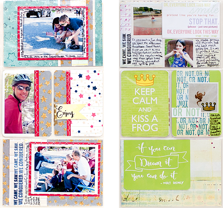 Heather Greenwood | Project Life 2014 - Week 27 insert | 4th of July and vacation | On Cherry Street Magical kit and Sweet Stamp Shop coordinating stamp sets