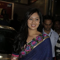 Nikesha at a showroom launch in saree