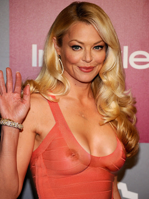 Charlotte Ross pokies nice breast in see through dress