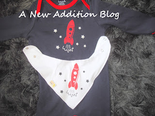Rocket romper and bib