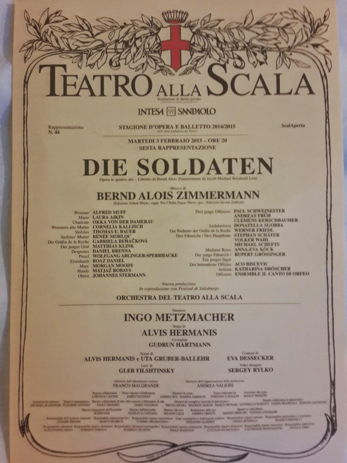опера Die Soldaten постановка Zimmermann милан