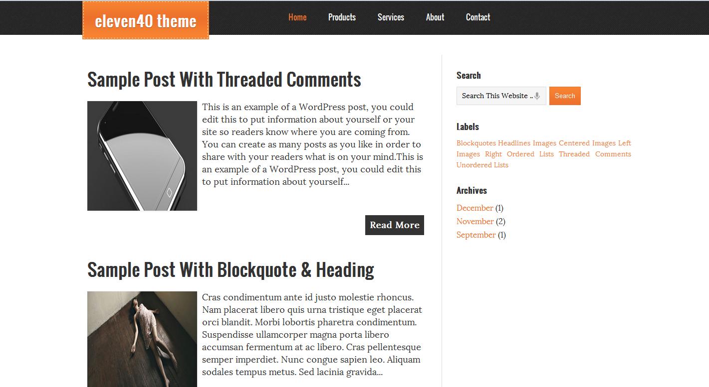 Eleven40 Blogger Template