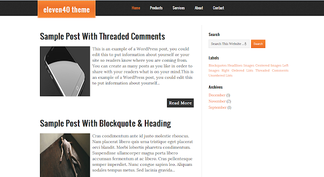 eleven40+blogger+template Best WordPress Converted Free Blogger Templates of 2013