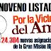 Noveno Listado Misión Hijos de Venezuela 01/12/12