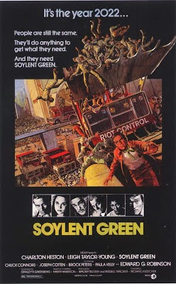 What does band name Soilent Green stand for - Soylent Green Film Poster