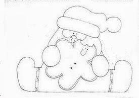 desenho papai noel  country com ginger para pintar