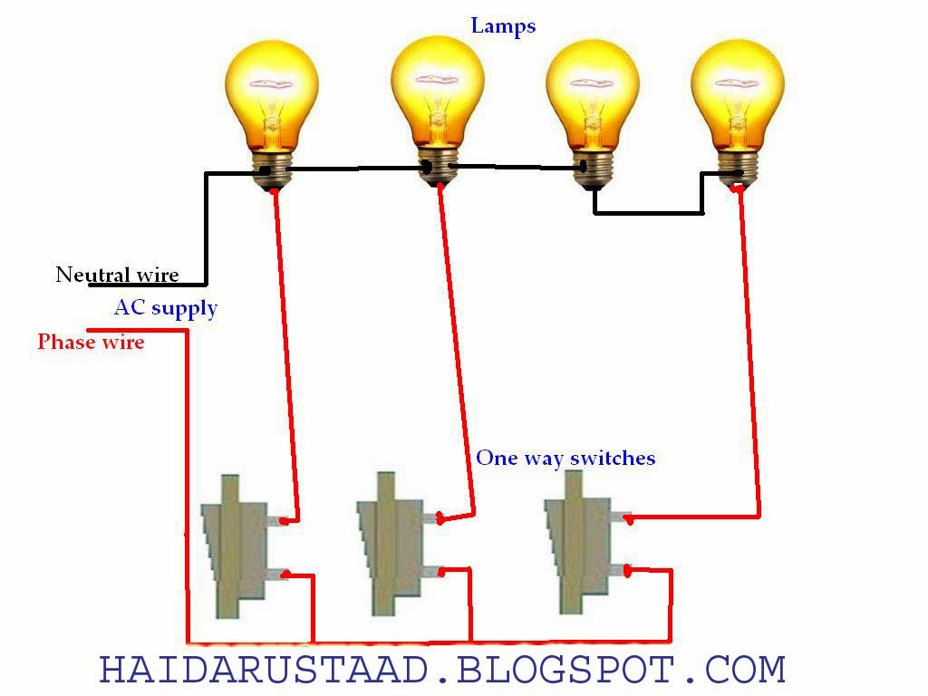 How to control 2 lamps (bulbs) in parallel and 2 lamps in series by ...