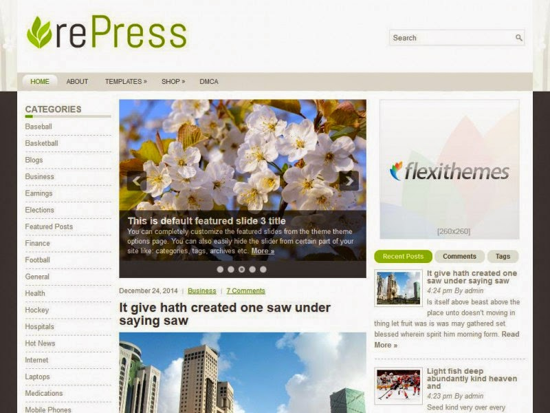 rePress - Free Wordpress Theme