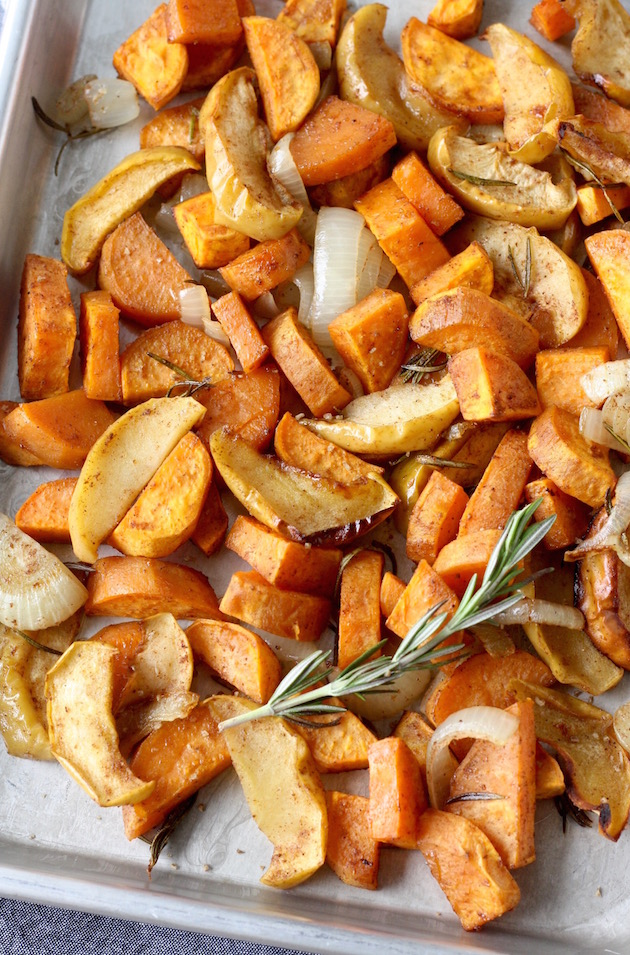 Roasted Sweet Potatoes & Apples with Maple Syrup and Five Spice by SeasonWithSpice.com