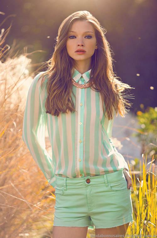 Square primavera verano 2014. Moda 2014 camisas.
