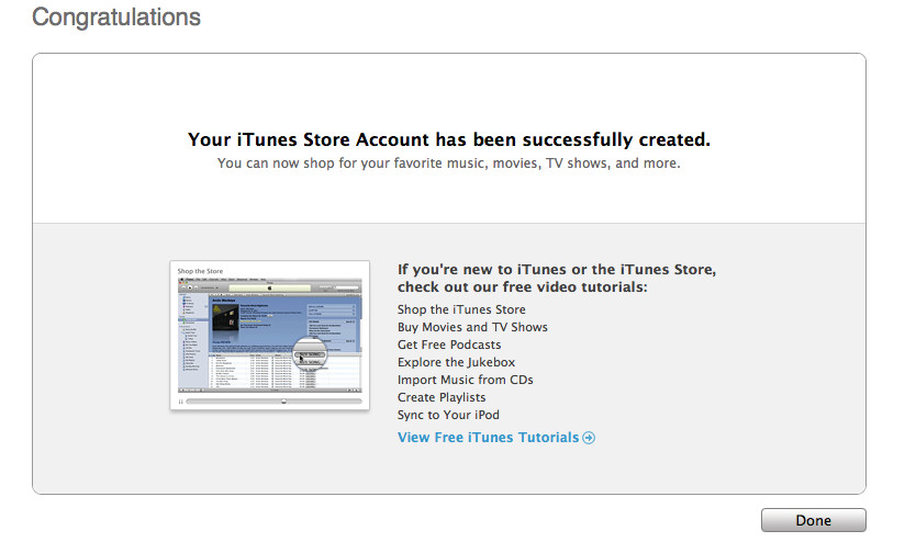 Creating an iTunes App Store account without a credit card