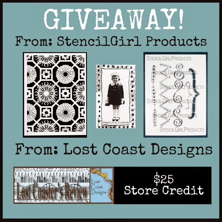 LOST COAST DESIGNS + STENCILGIRL BLOG HOP + GIVEAWAY!