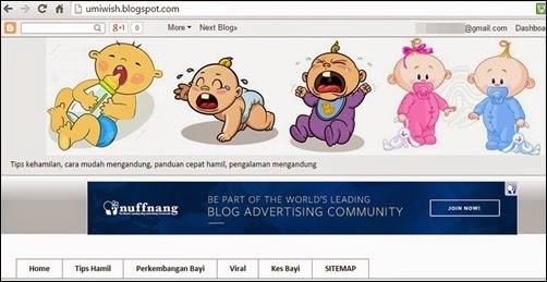 Hasilkan blog baru, blog ke 2 dengan usaha sendiri, buat blog baru dengan teknik SEO, daftar blog baru ke Google Webmaster, Google Analytic, buat sitemap blog, blog info hamil dan mengandung, blog parenting, blog keibubapaan