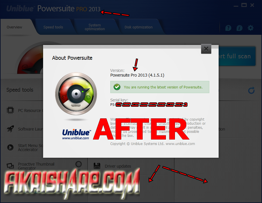 Uniblue PowerSuite PRO 2013 4.1.5.1 Full Serial Number / Key [Offline