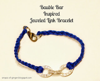 DIY Jeweled Link Bracelet