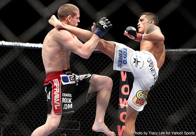 Ufc knockout kick off cage