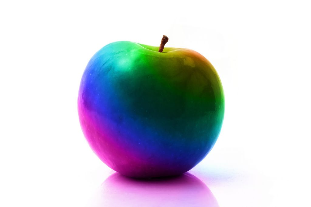 22. Rainbow Apple