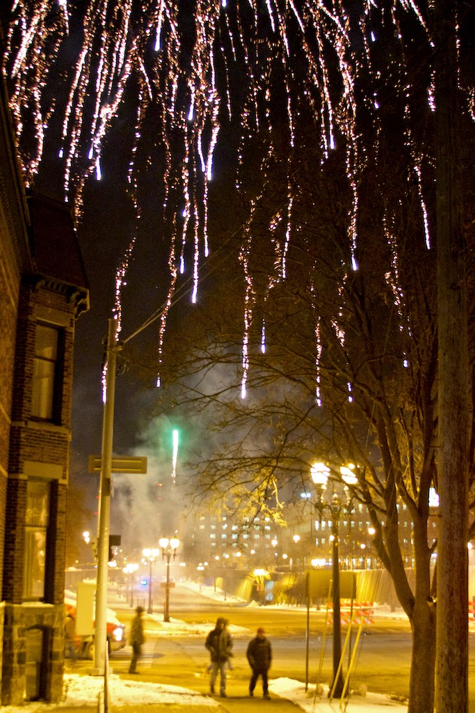 Silver Bells in the City Fireworks 2014. Lansing, Michigan. Tammy Sue Allen Photography.