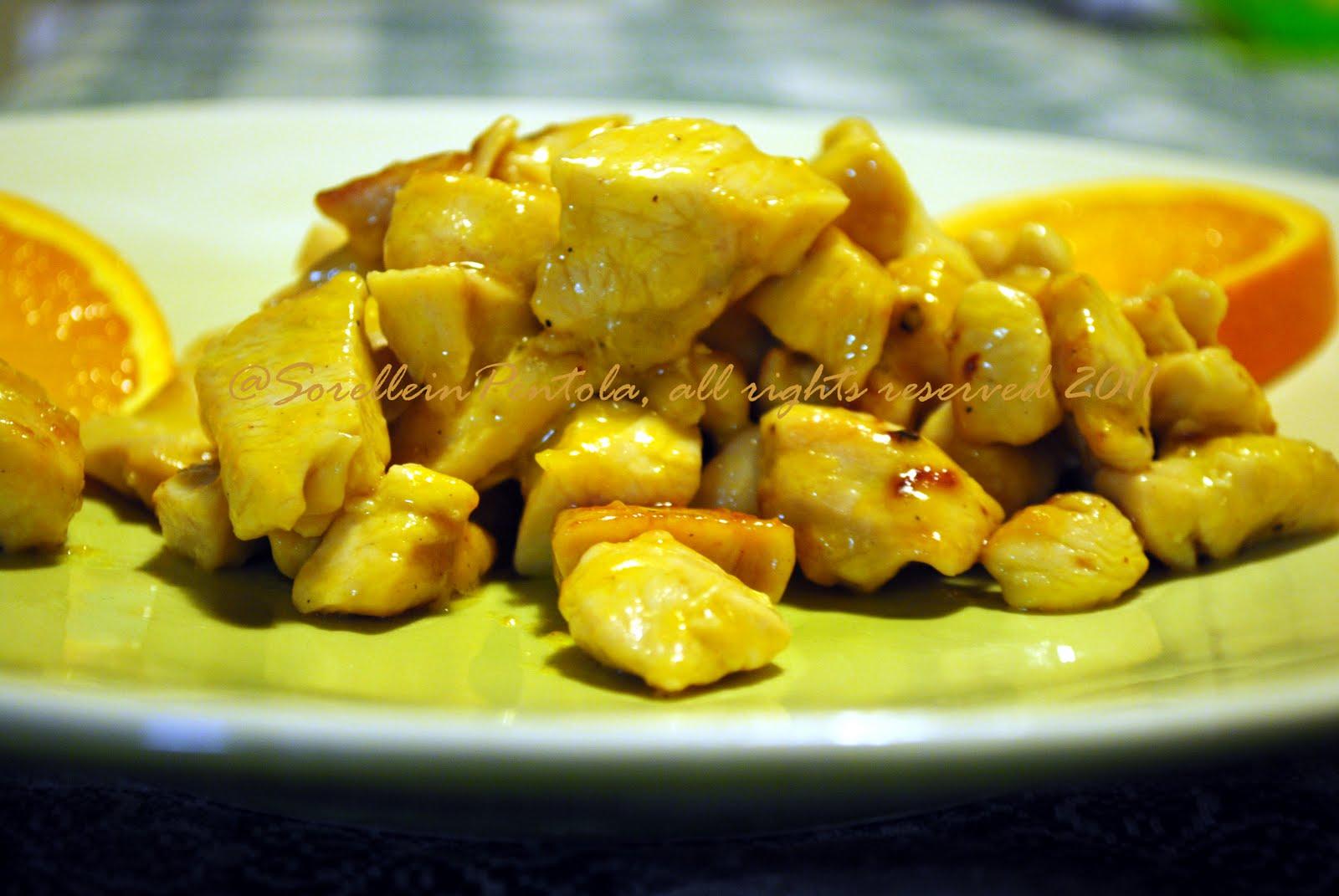Sorelle in pentola bocconcini di pollo all 39 arancia for Cucinare x cena