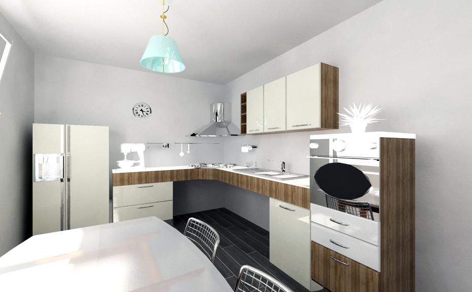 Progettazione 3D - arredo cucina con tavolo - | My Kitchen ...