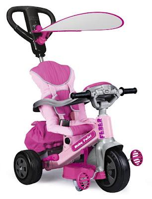 TOYS : JUGUETES - FEBER  Triciclo evolutivo Baby Twist 360 Girl | Rosa  Producto Oficial 2015 | Famosa 800009781 | A partir de 10 meses  Comprar en Amazon España