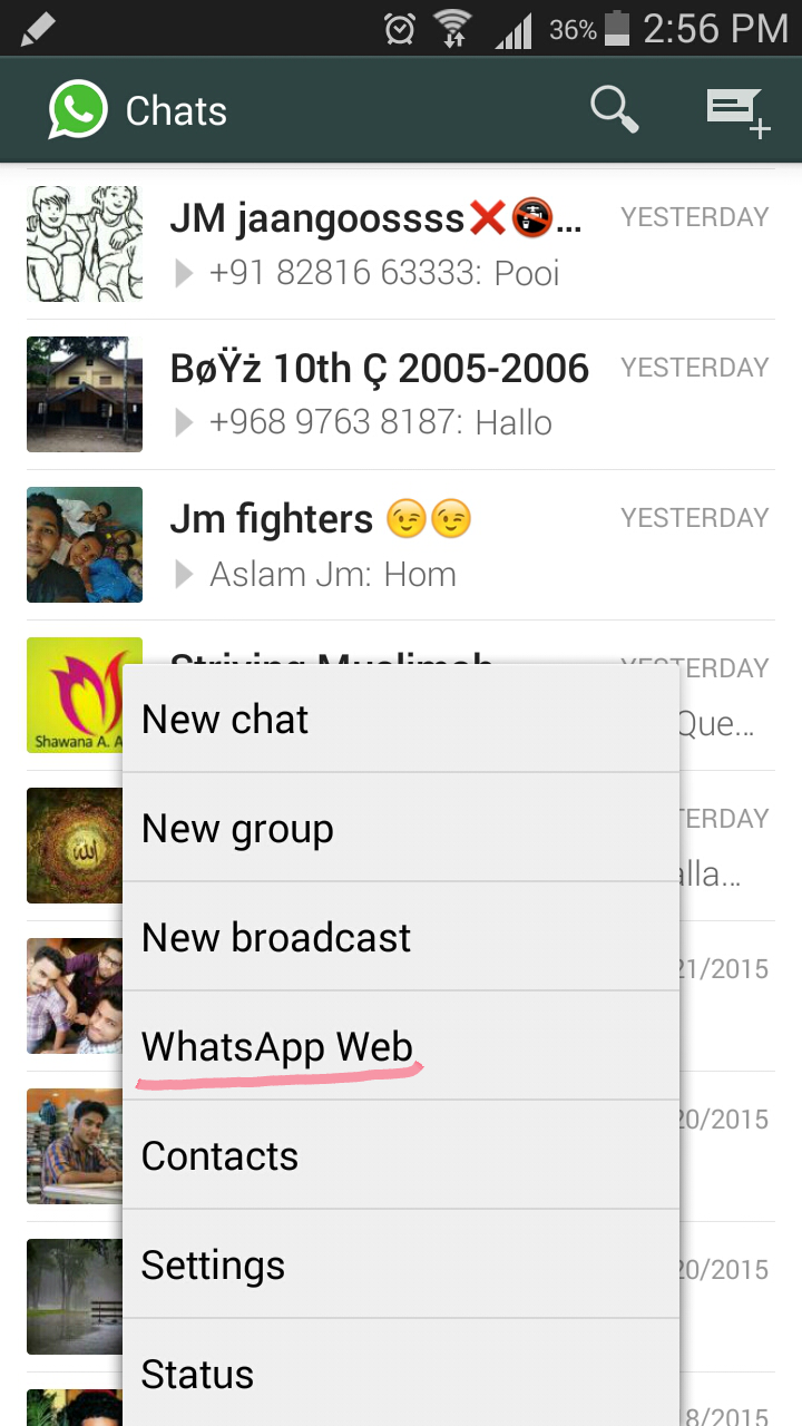 whatsapp web android app