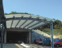 Tejados para garajes techados para polideportivos for Cubiertas para garajes