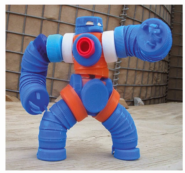 reciclagem - Robô de tampinhas