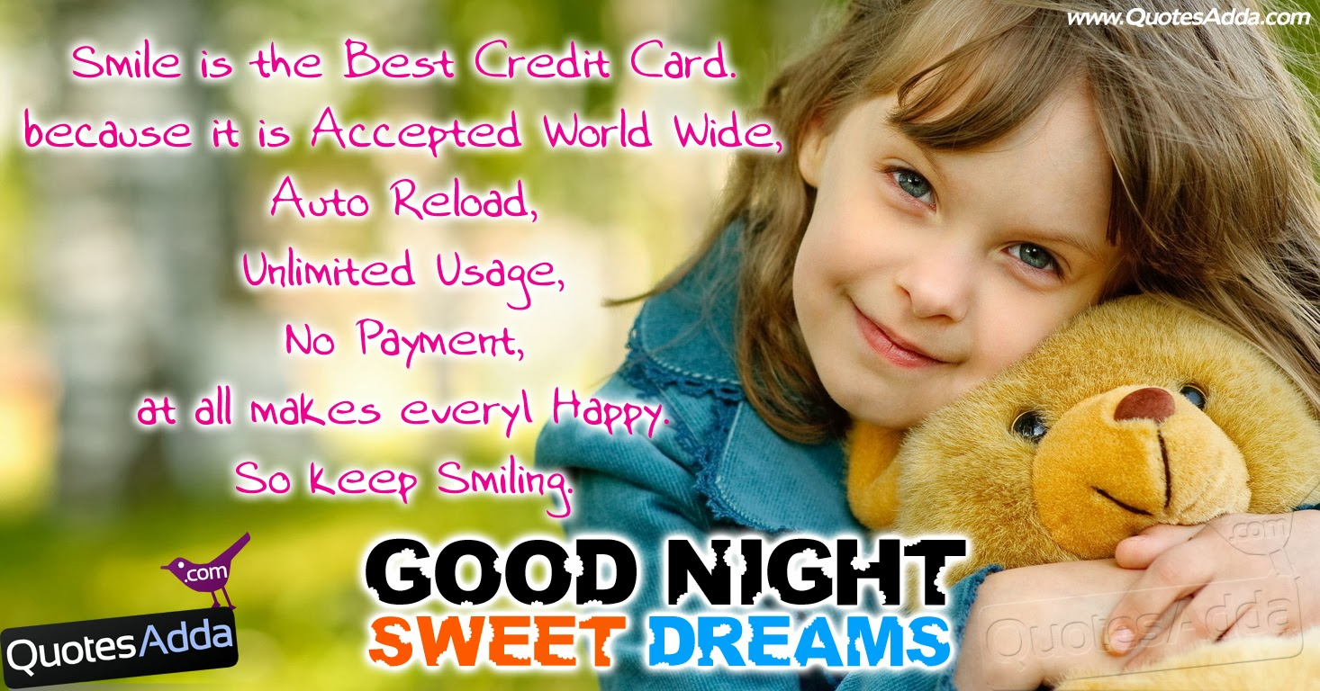 Good Night Quotation with Wallpapers | QuotesAdda.com ... Good Night Quotes Baby