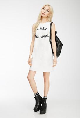 Vivre Graphic Tank Dress at forever21.com