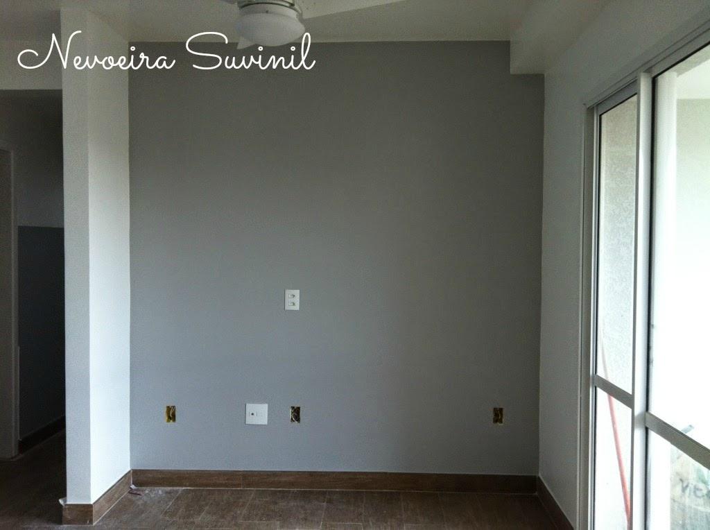 Meu Palácio de 64m² Paredes na cor cinza é a tendência do