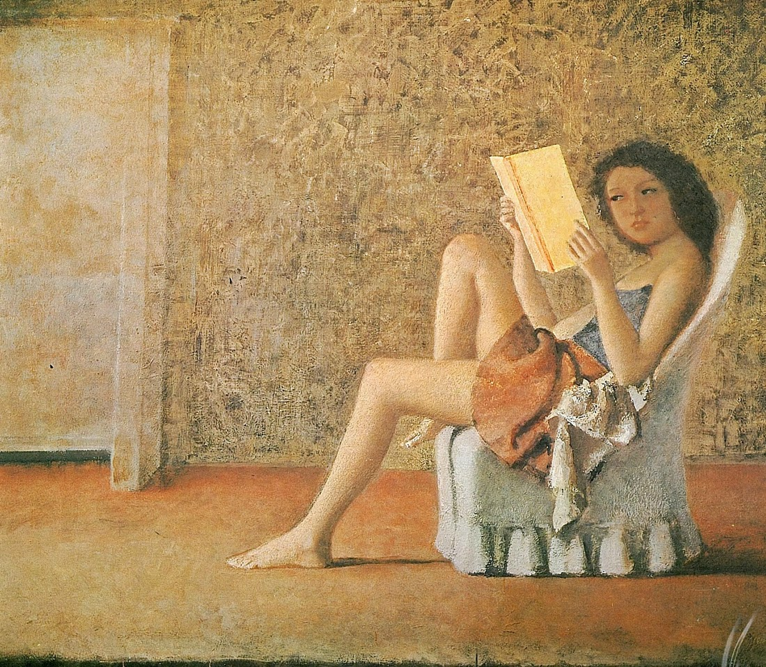 Balthus - Katia reading, 1974