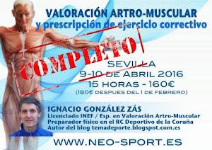 Valoración artro-muscular en Sevilla 9-10 de abril