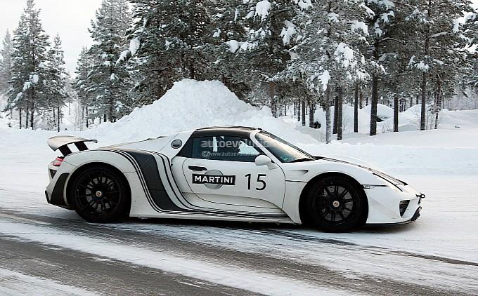 Spyshots: Porsche 918 Spyder Winter Testing