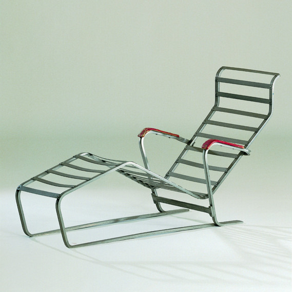 Aluminium chair, Chaise Longue No. 313, 1933., Vitra Design Museum, Weil am Rhein