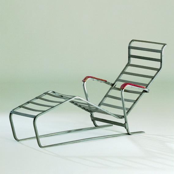 Aluminium chair, Chaise Longue No. 313, 1933., Vitra Design Museum, Weil am Rhein