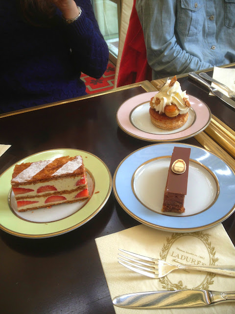 Desserts at Ladurée, Paris