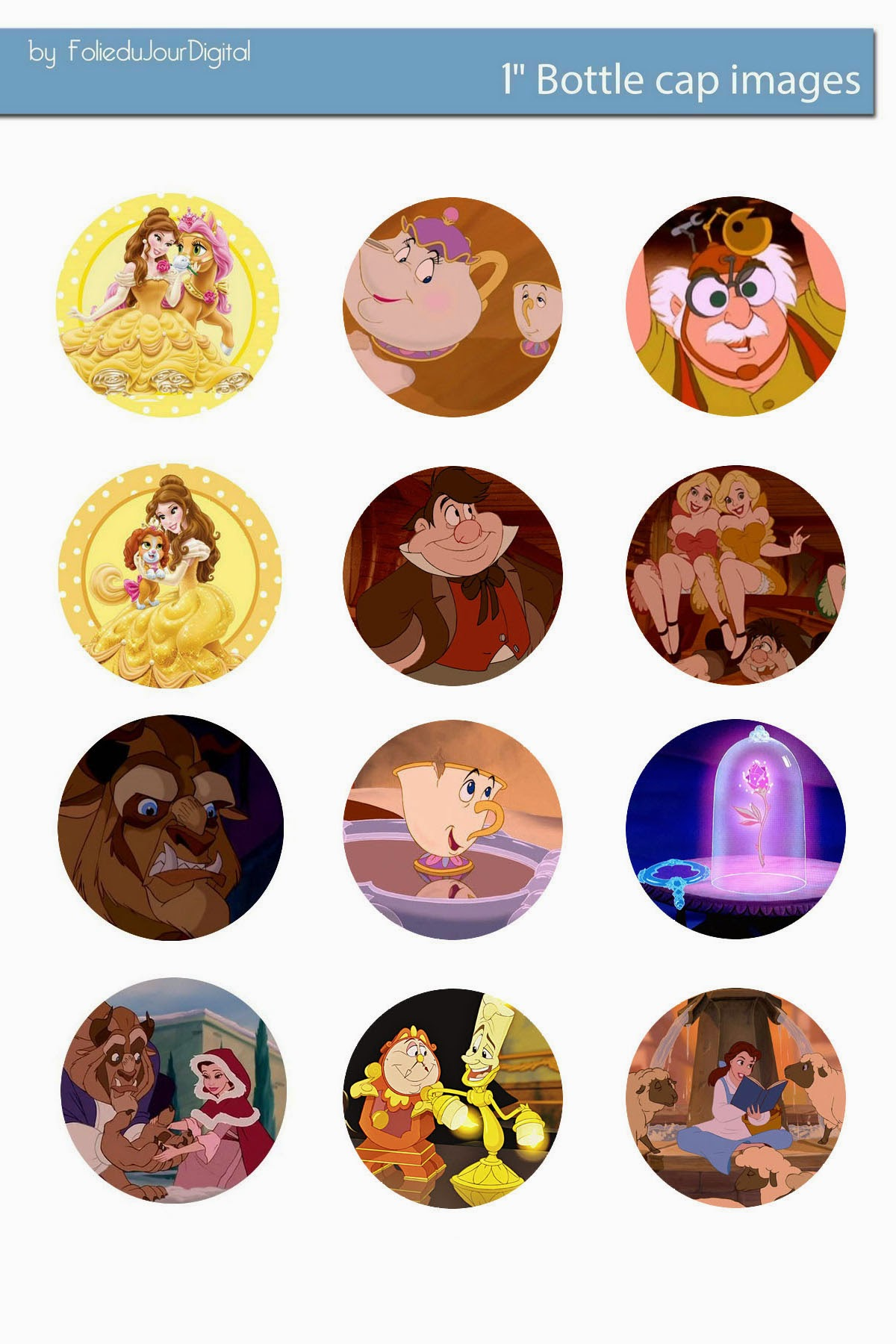 Free bottle cap images beauty and the beast free digital bottle cap for your bottle caps birthday parties bows necklace jewelry magnets paper products scrapbooking collages invitations cards newsletters maxwellsz