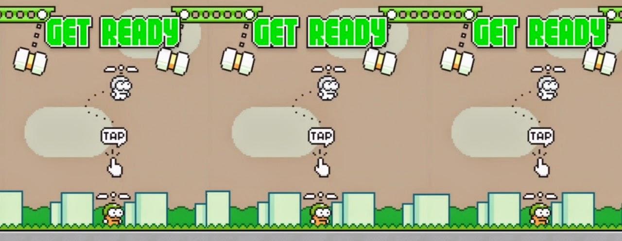 Swing Copters, Game Baru Dari Pembuat Flappy Bird
