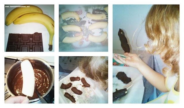 Procedimento banane ricoperte di cioccolato