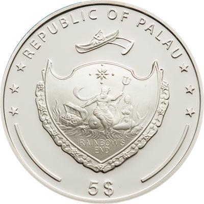 Palau coins Silver Coin 5 dollars