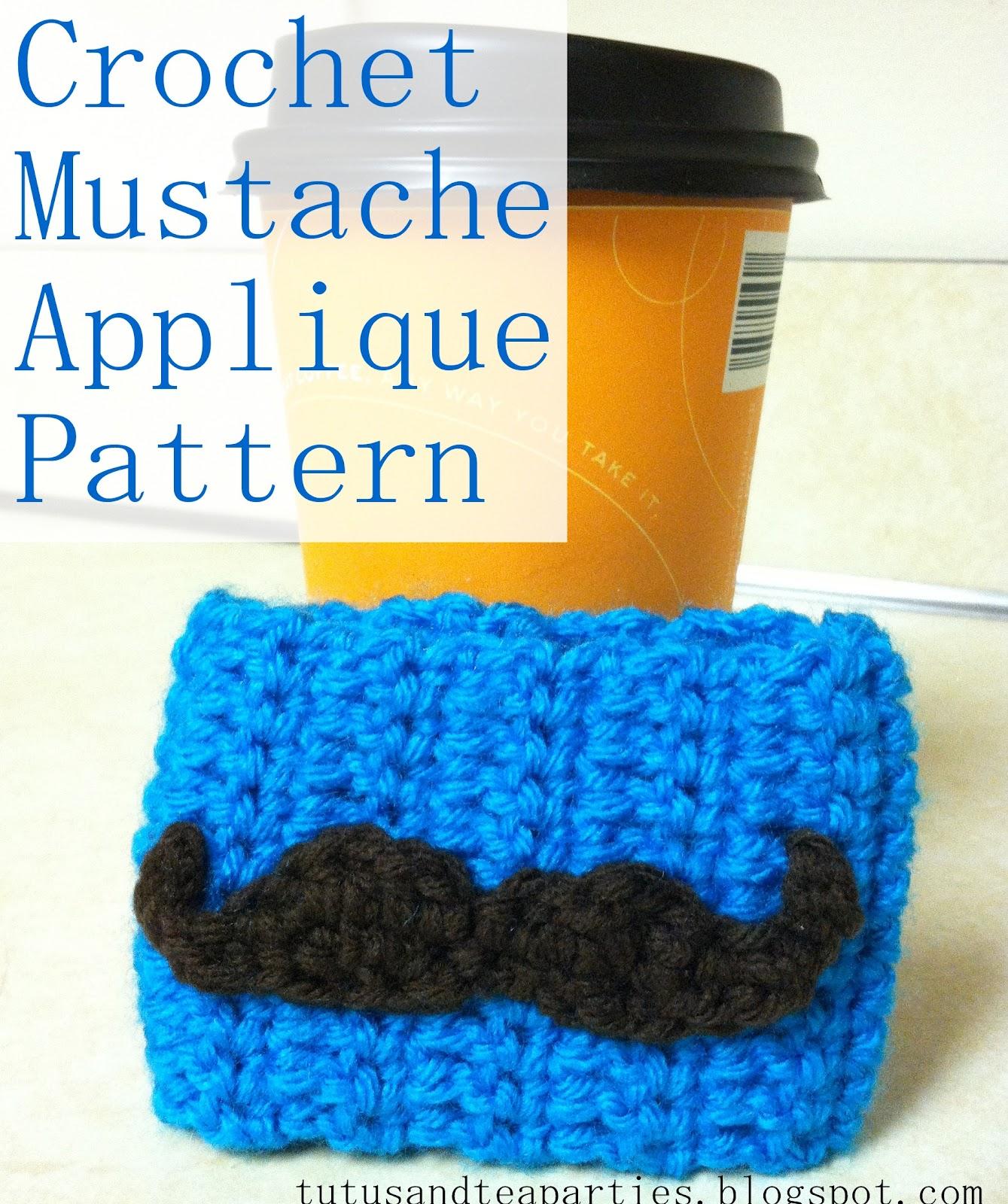 Bison bantaran free crochet pattern mustache applique free crochet pattern mustache applique bankloansurffo Images