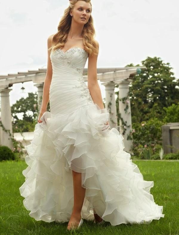 RainingBlossoms Popular High Low Wedding Dresses Are Charming