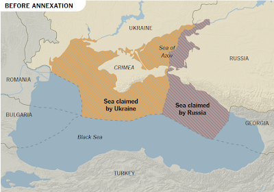 Black Sea Oil Claims Before and After Russia Annexed Crimea