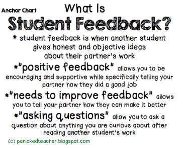 screen shot describing student feedback