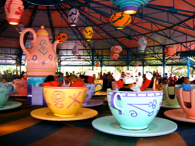 Alice in Wonderland Mad Teacups ride - Magic Kingdom, Disney World, Florida