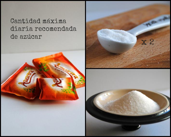 cantidad diaria máxima recomendada de azúcar