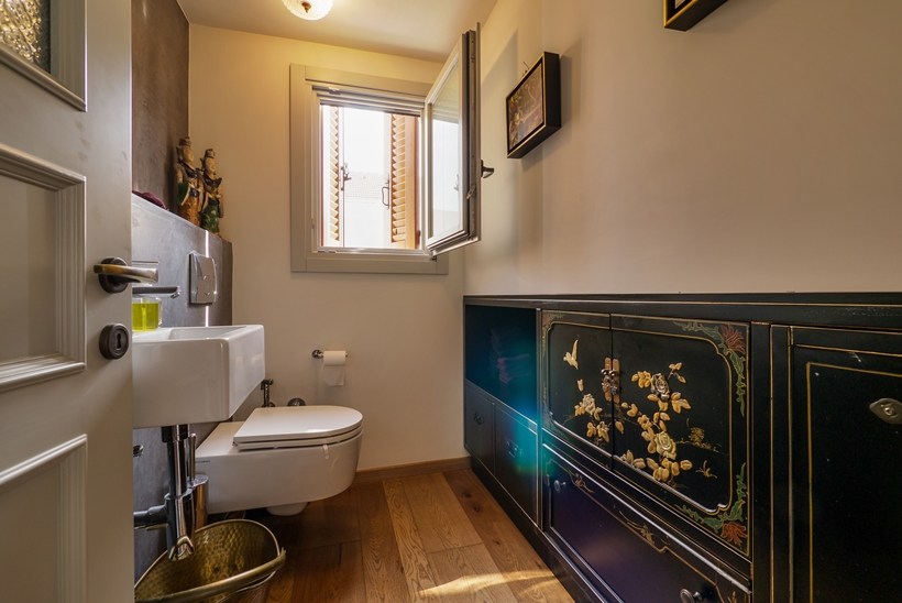Bathroom in the Townhouse decorated in the style of old Neve Tzedek, Israel